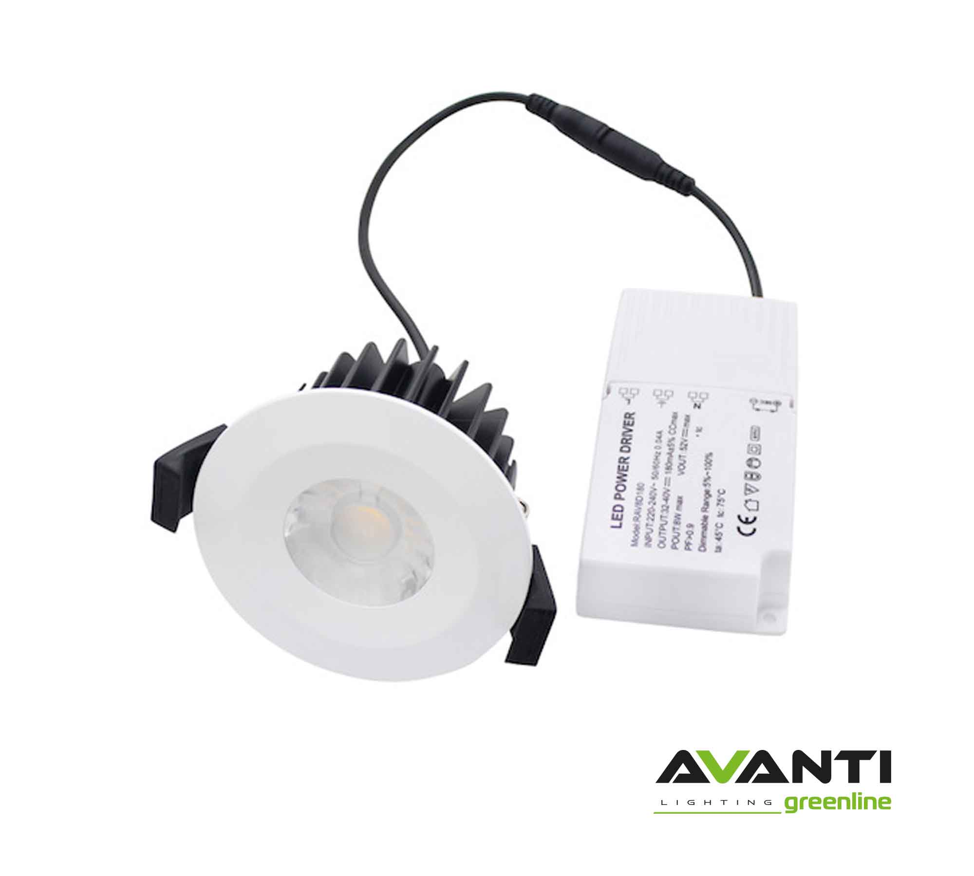 White-Fire-Rated-Downlight-With-Driver