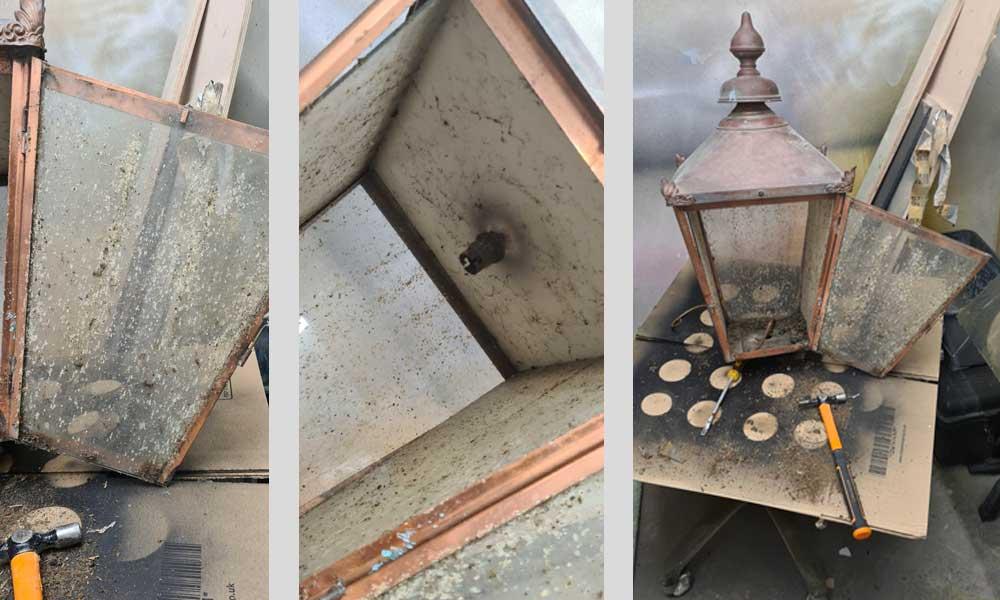 antique lanterns refurbishment